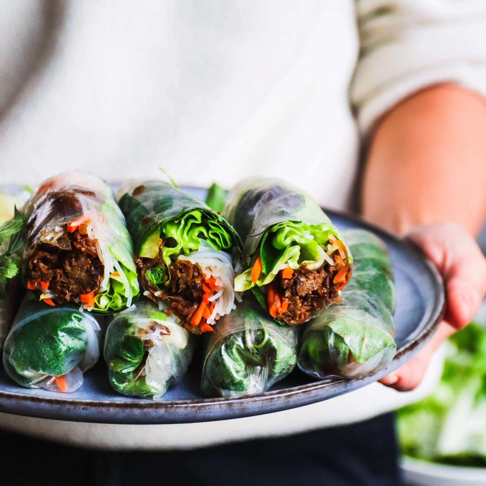 Lemongrass Rice Paper Rolls