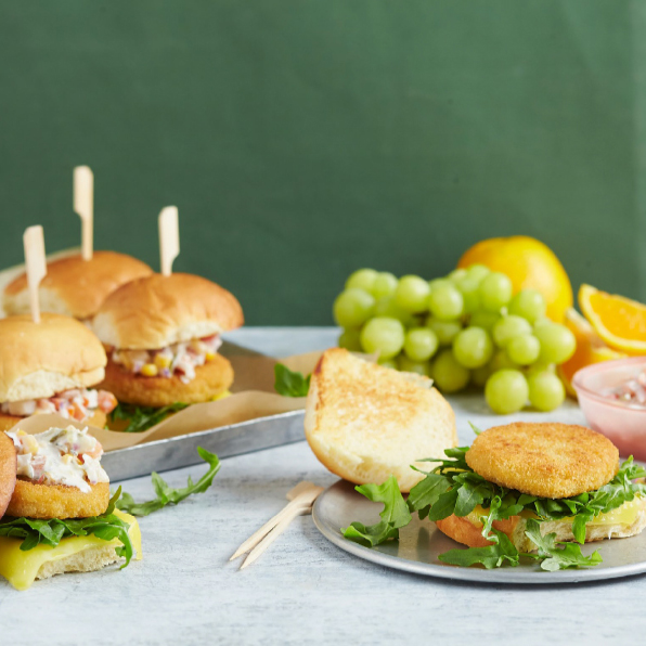 Chicken Burger with Pineapple Salsa